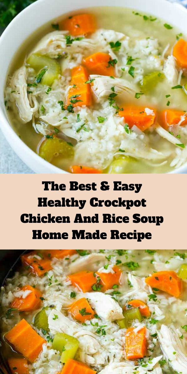 The Best and Easy Healthy Crockpot Chicken And Rice Soup Home Made Recipe