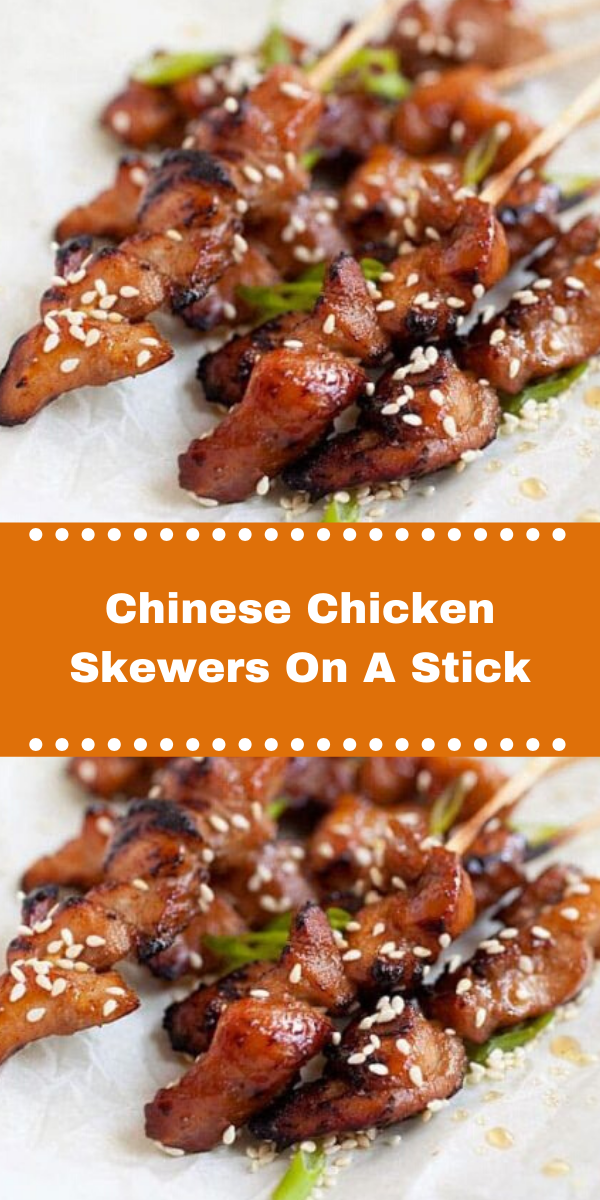 Chinese Chicken Skewers On A Stick