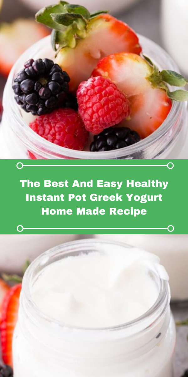 The Best And Easy Healthy Instant Pot Greek Yogurt Home Made Recipe