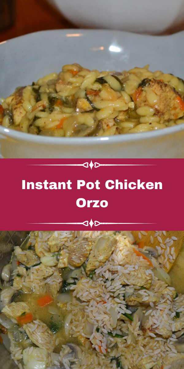 Instant Pot Chicken Orzo