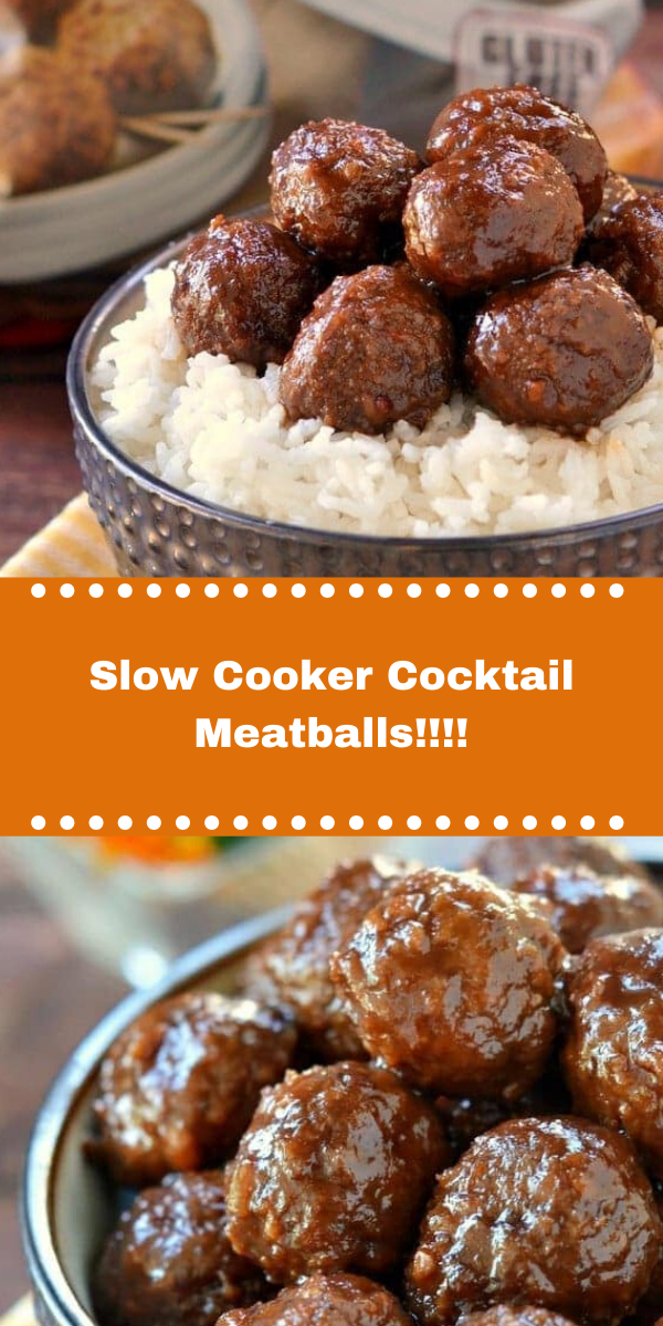 Slow Cooker Cocktail Meatballs!!!!