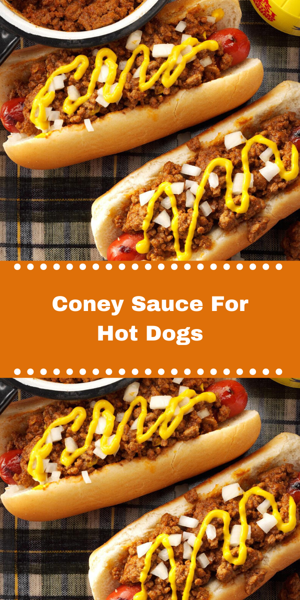 Coney Sauce For Hot Dogs