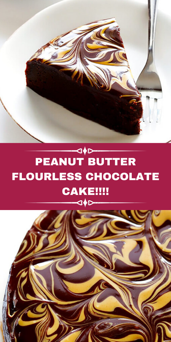 PEANUT BUTTER FLOURLESS CHOCOLATE CAKE!!!!