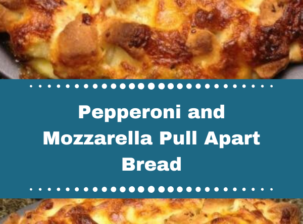 Pepperoni and Mozzarella Pull Apart Bread