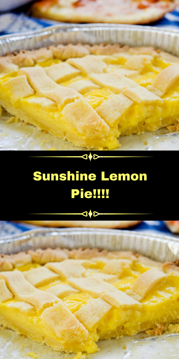 Sunshine Lemon Pie!!!!