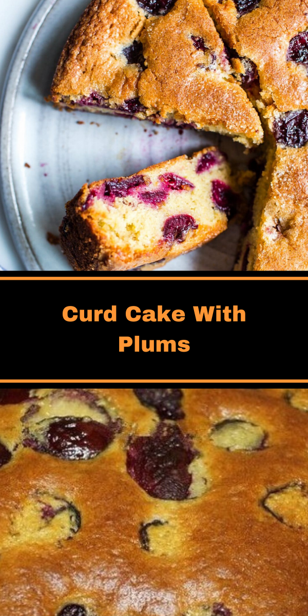 Curd Cake With Plums