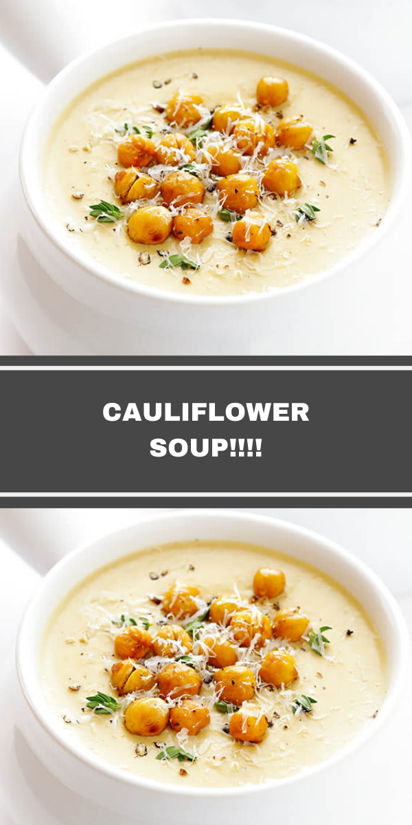 CAULIFLOWER SOUP!!!!